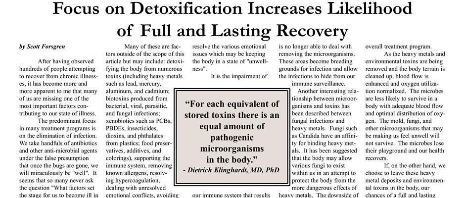 Focus on Detoxification Increases Likelihood of Full and Lasting Recovery