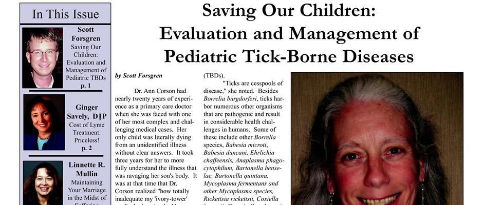 Ann Corson - Saving Our Children: Evaluation and Management of Pediatric Tick-Borne Diseases