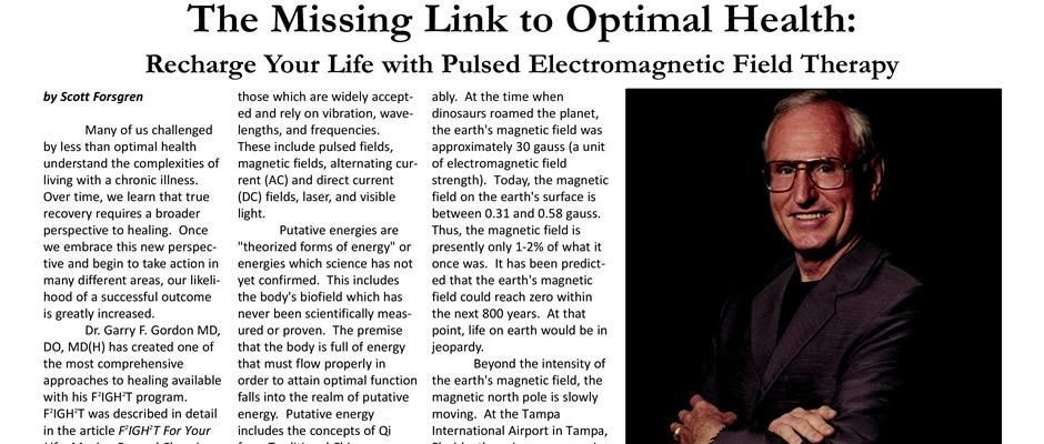 The Missing Link to Optimal Health: Recharge Your Life with Pulsed Electromagnetic Field Therapy