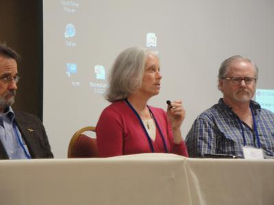 Wayne Anderson, Ann Corson, and Byron White (left to right)